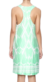 Fantastic Fawn Printed Mint Dress - Back cropped
