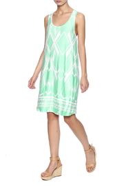 Fantastic Fawn Printed Mint Dress - Front full body