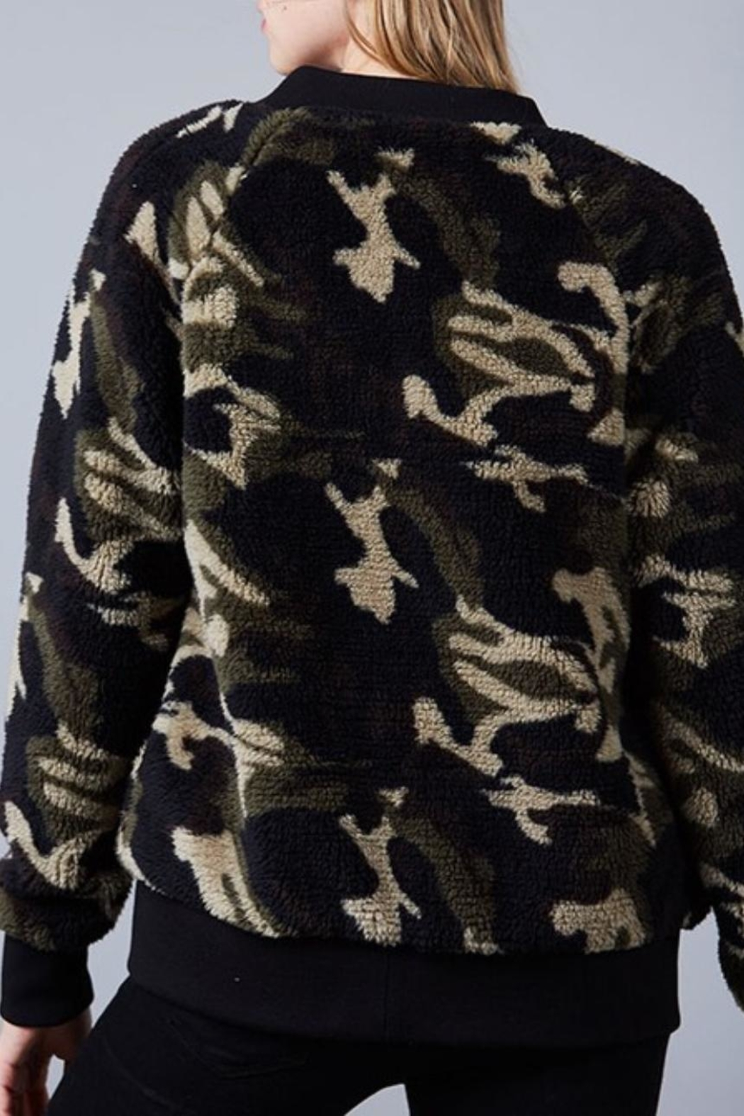 Fantastic Fawn Camo Bomber - Front Full Image