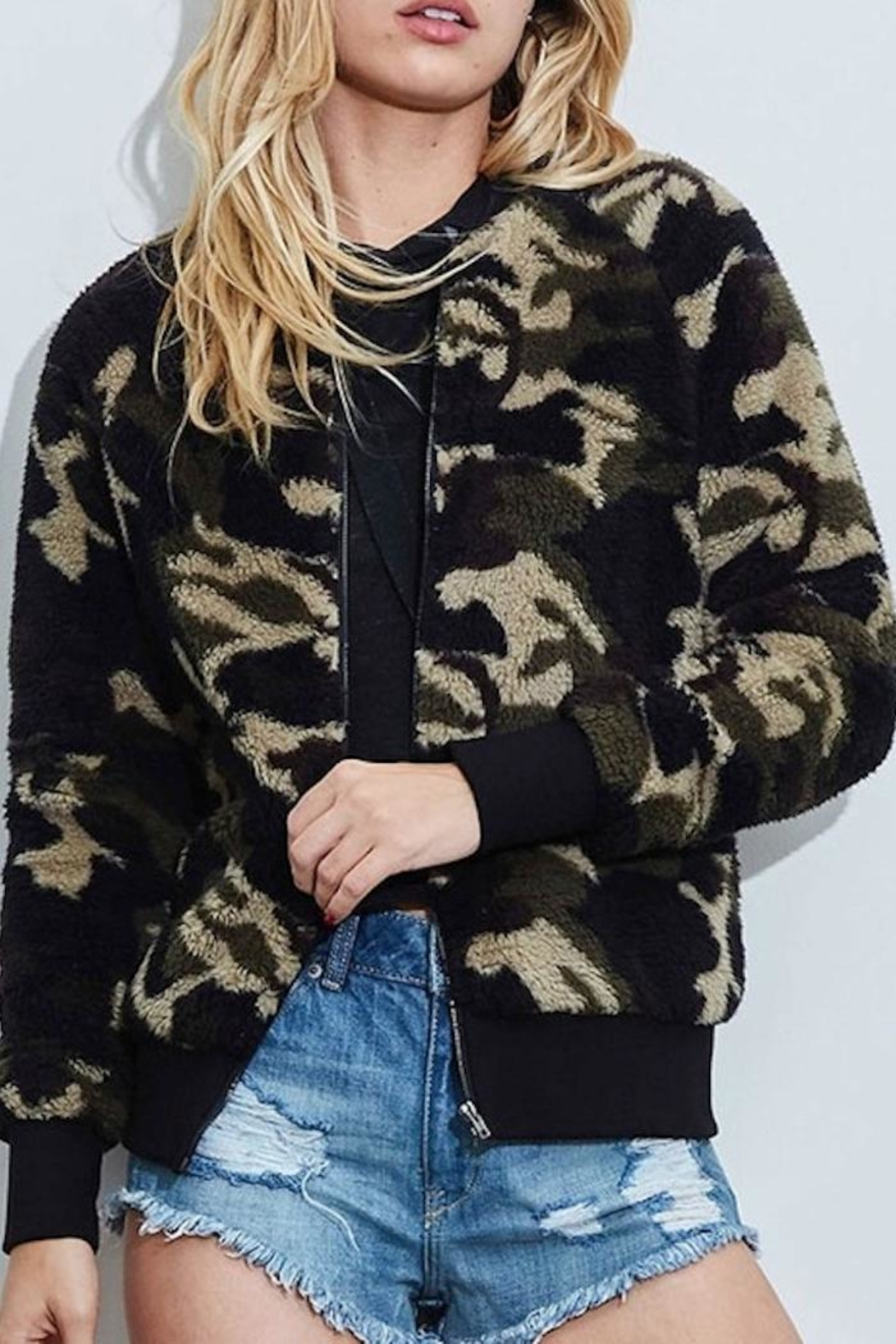 Fantastic Fawn Camo Jacket - Front Cropped Image
