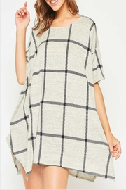 Fantastic Fawn Check Tunic Top - Product Mini Image