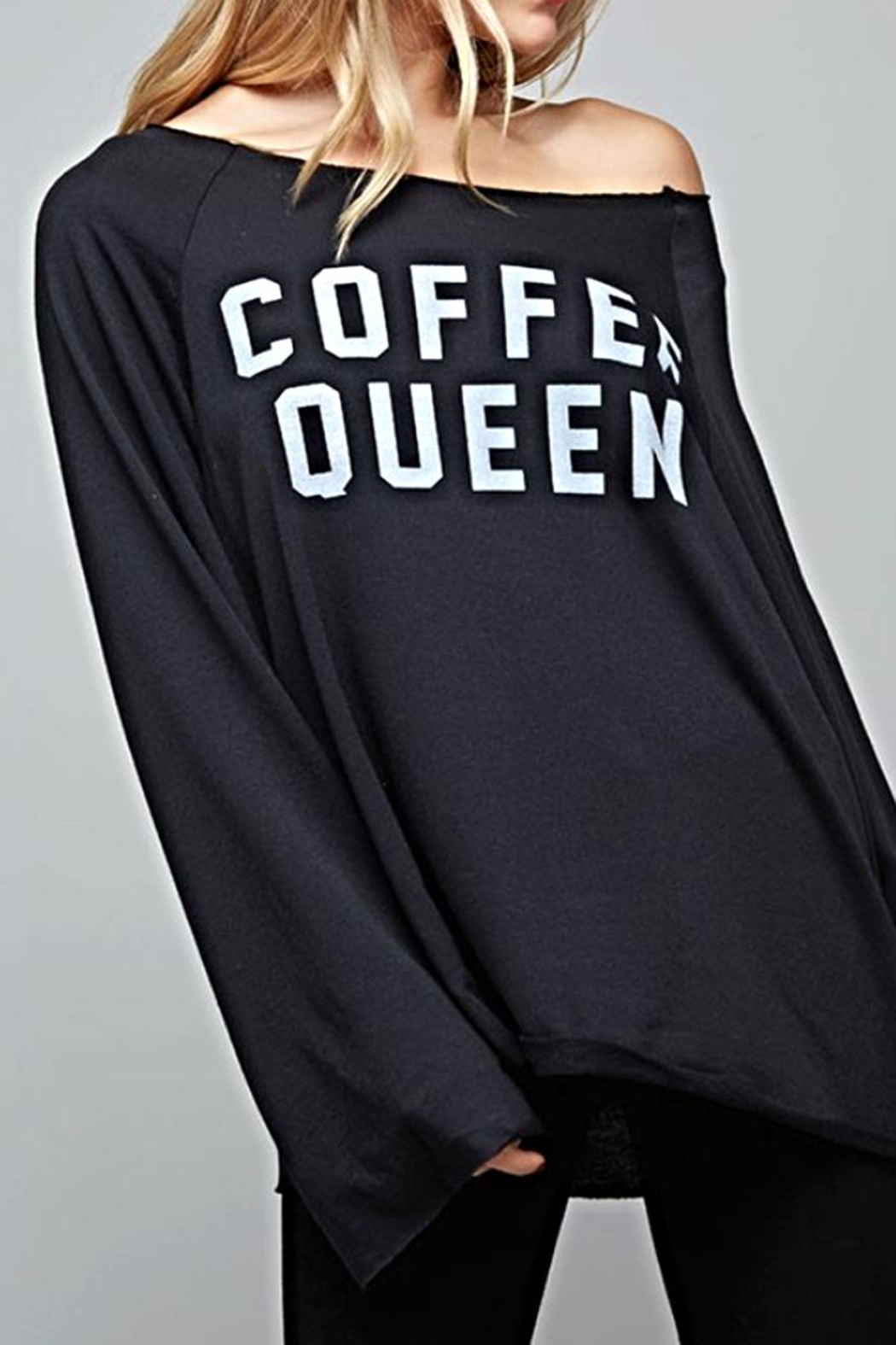 Fantastic Fawn Coffee Queen Shirt - Front Cropped Image