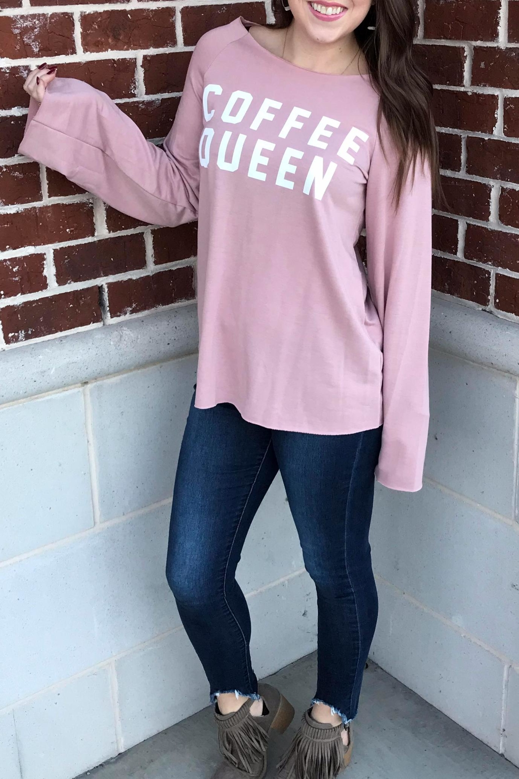 Fantastic Fawn Coffee Queen Sweatshirt - Front Cropped Image