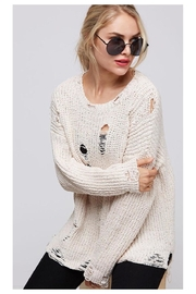 Fantastic Fawn Distressed Sweater - Product Mini Image