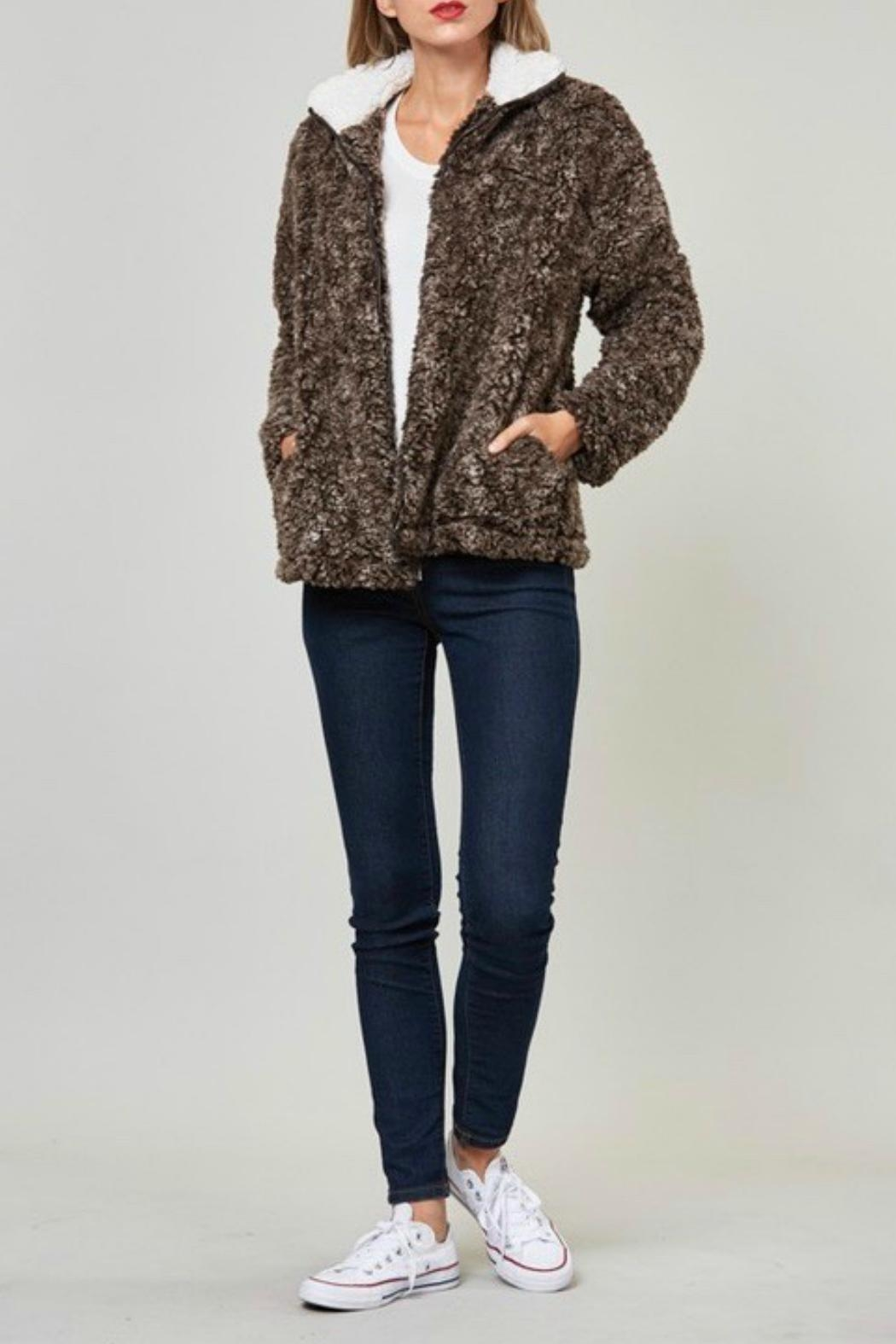 Fantastic Fawn Faux Sherpa Jacket - Side Cropped Image