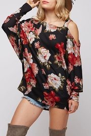 Fantastic Fawn Floral Sweater Top - Product Mini Image
