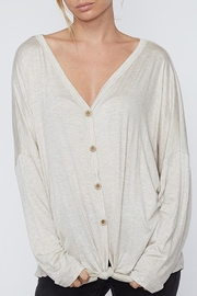 Fantastic Fawn Front-Tie Button-Down Top - Product Mini Image