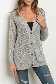 Fantastic Fawn Gray Button Cardigan - Product Mini Image
