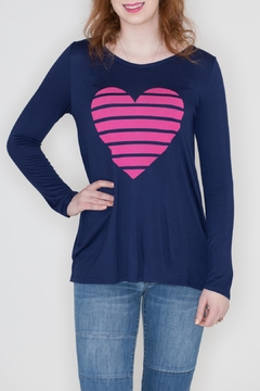 Fantastic Fawn Heart Graphic Top - Product List Image