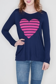 Fantastic Fawn Heart Graphic Top - Product Mini Image