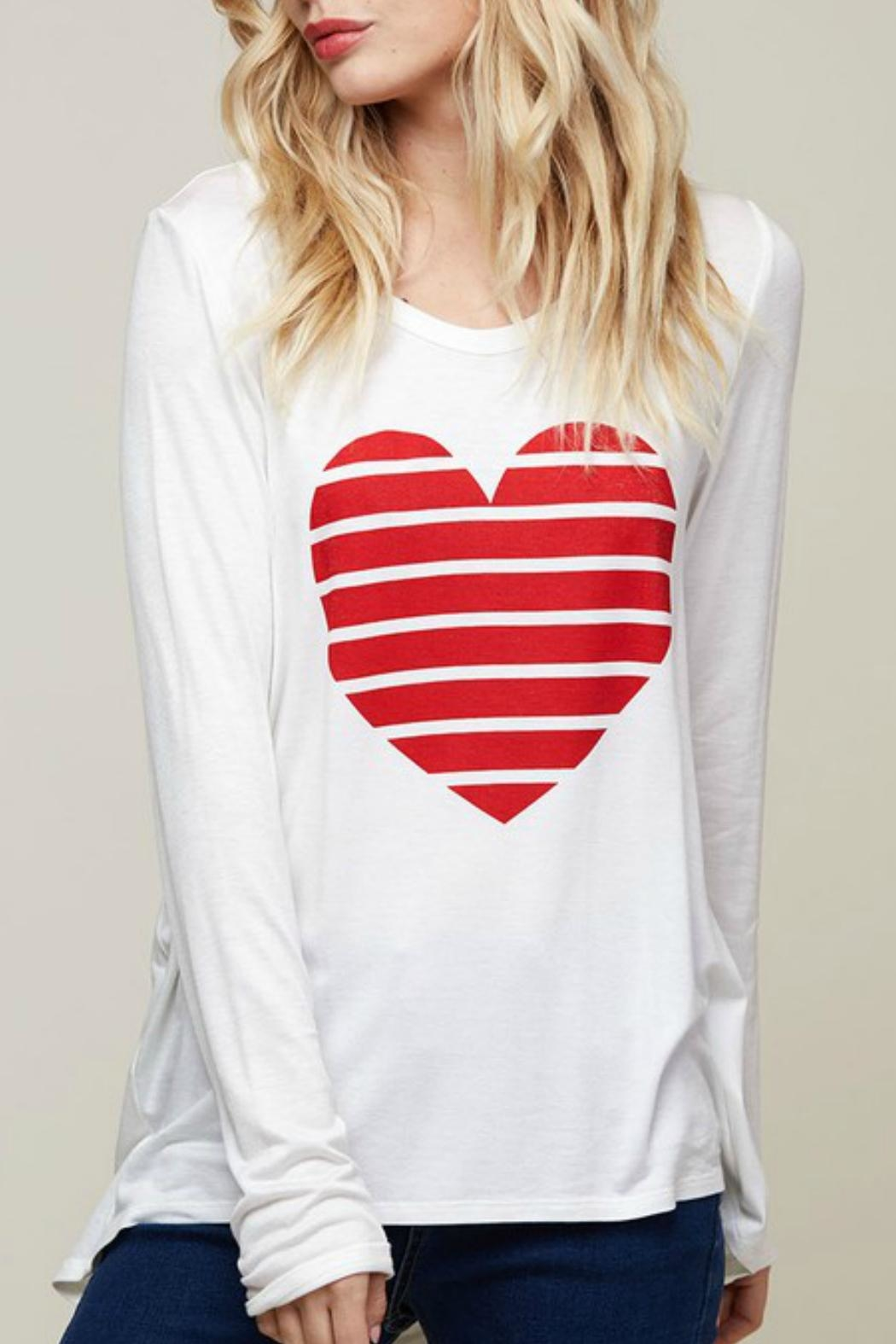 Fantastic Fawn Heart Graphic Top - Main Image
