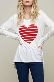 Fantastic Fawn Heart Graphic Top - Front full body