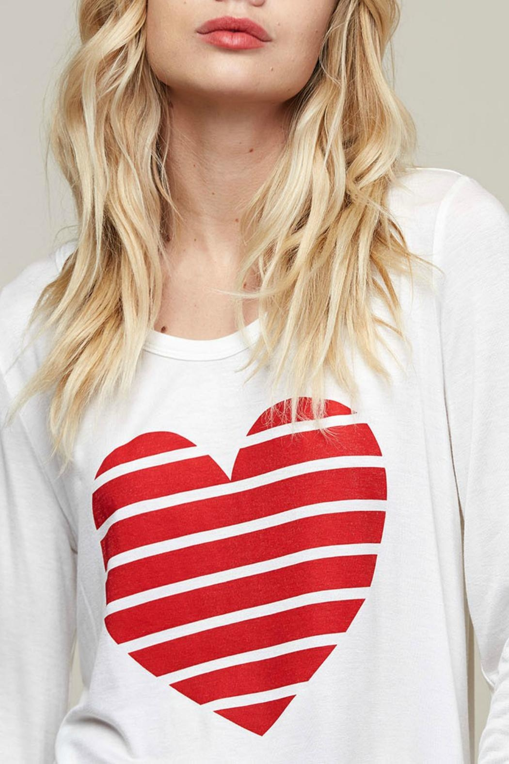 Fantastic Fawn Heart Graphic Top - Back Cropped Image
