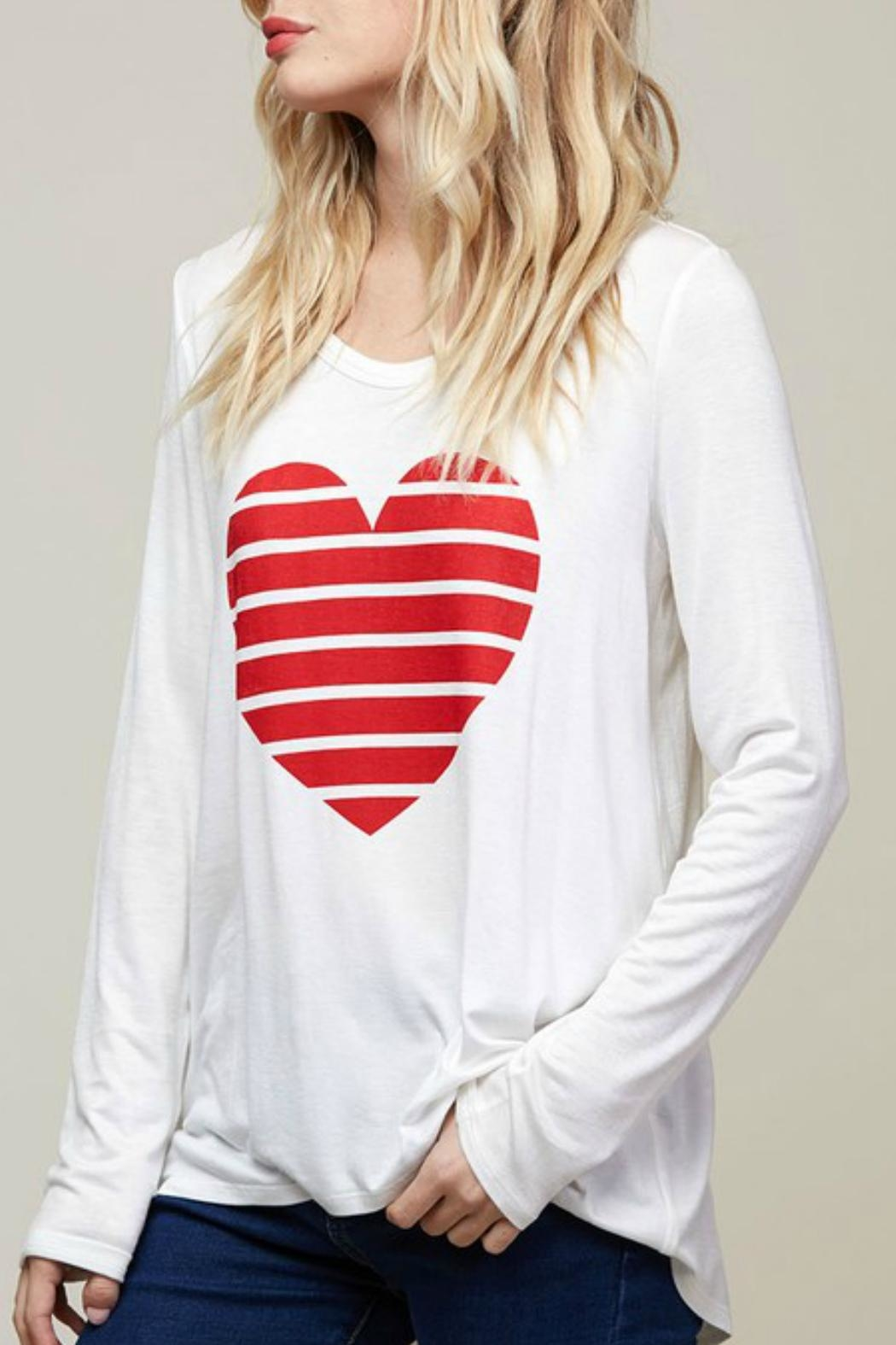 Fantastic Fawn Heart Graphic Top - Side Cropped Image