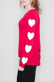 Fantastic Fawn Heart Sleeve Top - Front full body