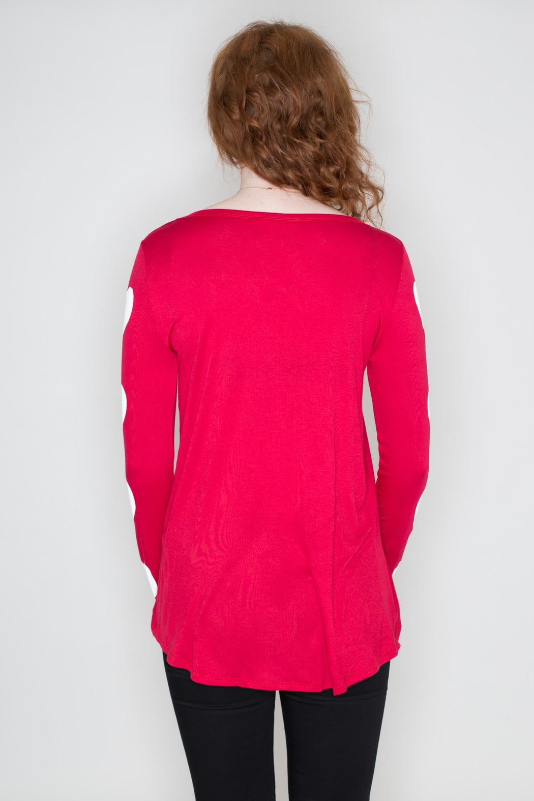 Fantastic Fawn Heart Sleeve Top - Side Cropped Image