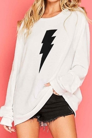 Fantastic Fawn Lightning Bolt Sweater - Front cropped