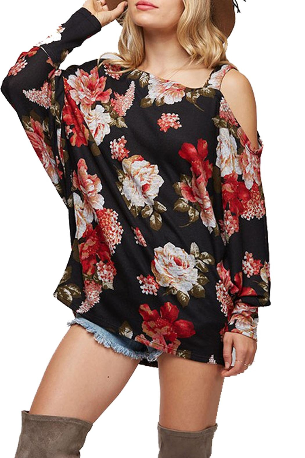 Fantastic Fawn Lightweight Flower Sweater - Main Image