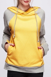 Fantastic Fawn Mustard Quilted Hoodie - Product Mini Image