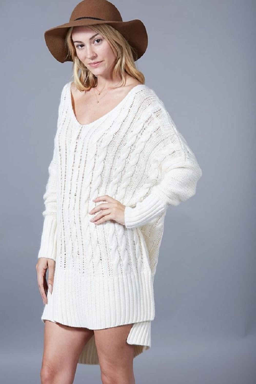 Fantastic Fawn Oversized Cableknit Sweater From Nashville By Jewell