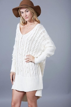 Shoptiques Product: Oversized Cableknit Sweater