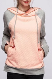 Fantastic Fawn Peach Quilted Hoodie - Product Mini Image