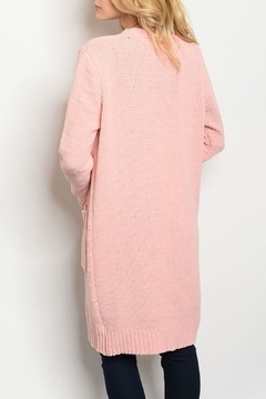 Fantastic Fawn Pink Knit Cardigan - Alternate List Image