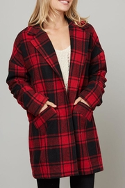 Fantastic Fawn Plaid Peacoat - Product Mini Image