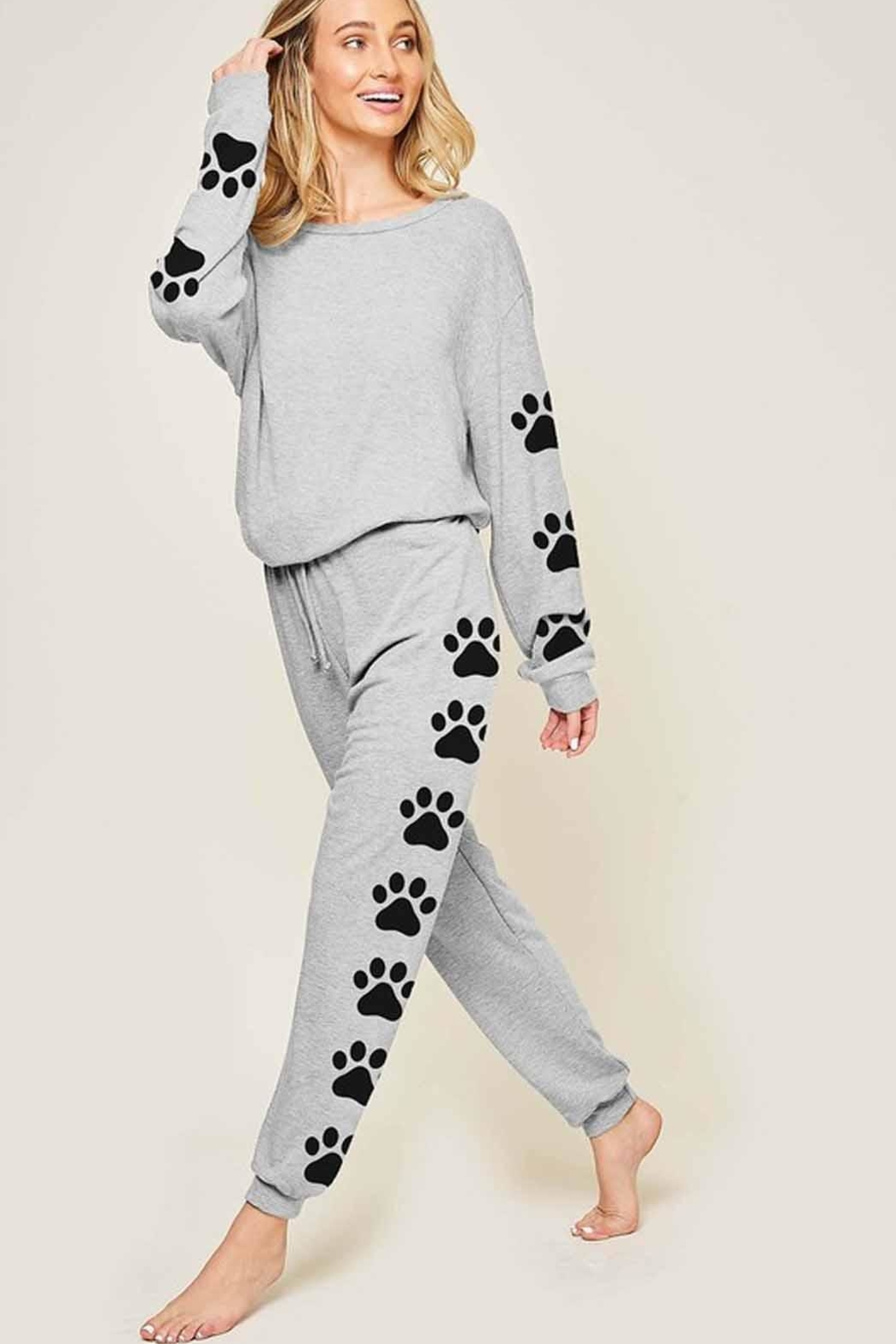 Fantastic Fawn Puppy Print Pullover - Front Full Image