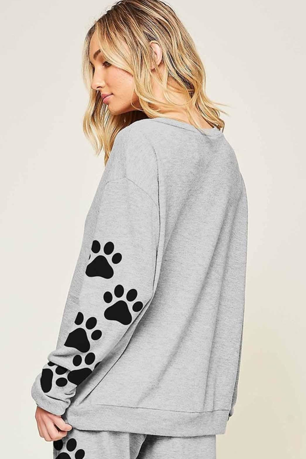 Fantastic Fawn Puppy Print Pullover - Main Image