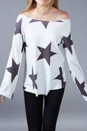 Fantastic Fawn Star Boat-Neck Top - Front cropped