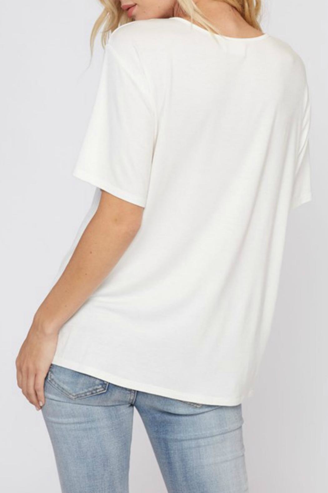 Fantastic Fawn Strappy Cutout Tee - Side Cropped Image