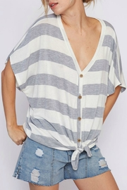 Fantastic Fawn Striped Knit Front Top - Product Mini Image