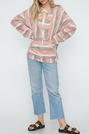 Fantastic Fawn Textured Striped Hoodie - Product Mini Image