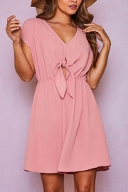 Fantastic Fawn Tie Front Dress - Product Mini Image