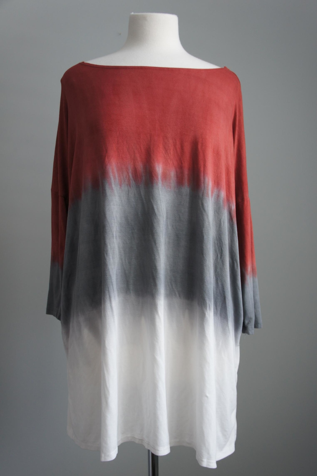 Fantastic Fawn Tri-Colored Piko Tunic - Front Cropped Image