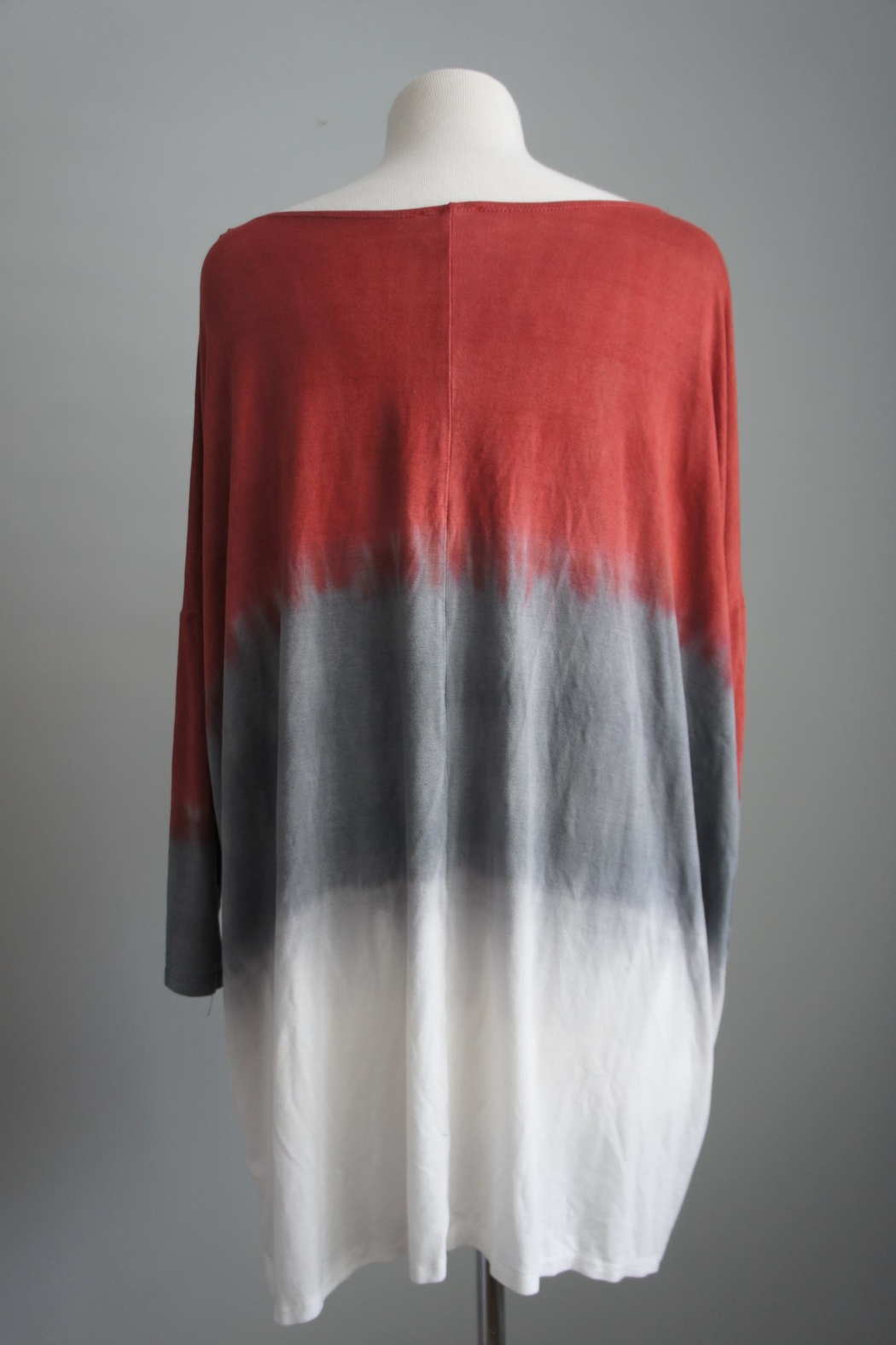 Fantastic Fawn Tri-Colored Piko Tunic - Side Cropped Image