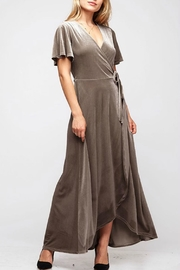 Fantastic Fawn Velvet Wrap Dress - Front cropped