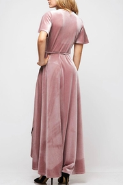 Fantastic Fawn Velvet Wrap Dress - Front full body