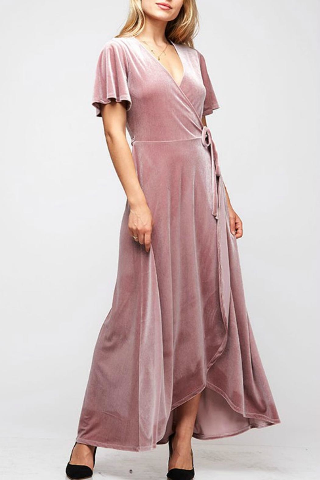 Fantastic Fawn Velvet Wrap Dress - Main Image