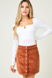 SAINTS & HEARTS  Farhana Corduroy Skirt - Product Mini Image