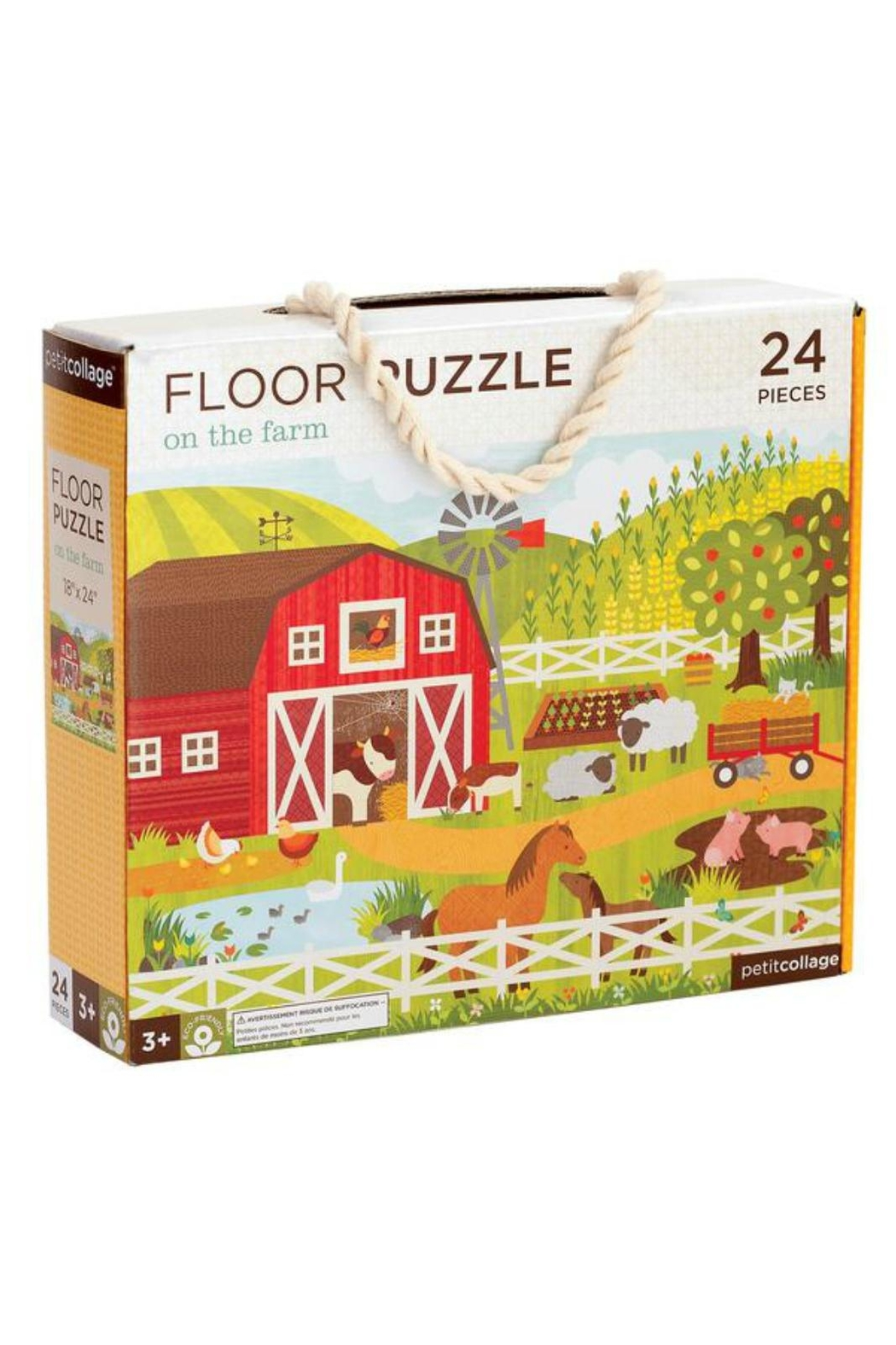 Petit Collage Farm Floor Puzzle - Front Cropped Image