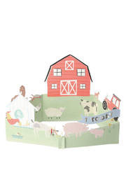 Meri Meri  Farmyard 1st Birthday Card - Product Mini Image