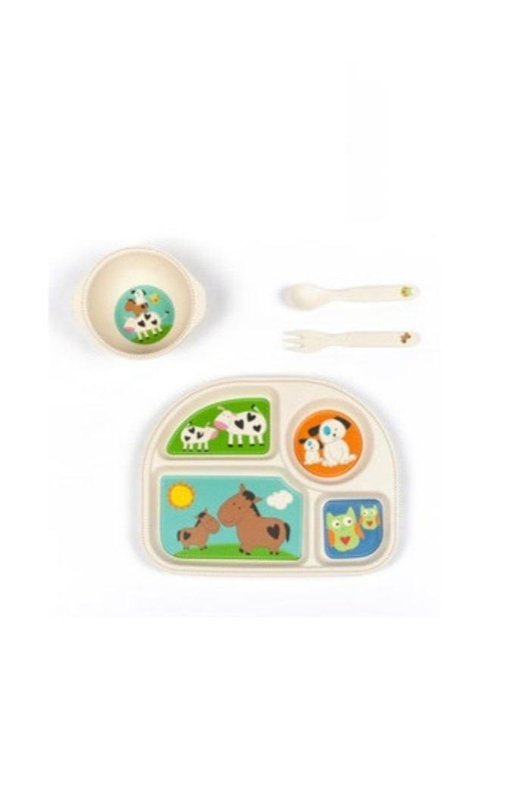 Manual Woodworkers and Weavers Farmyard Friends Dishset - Main Image