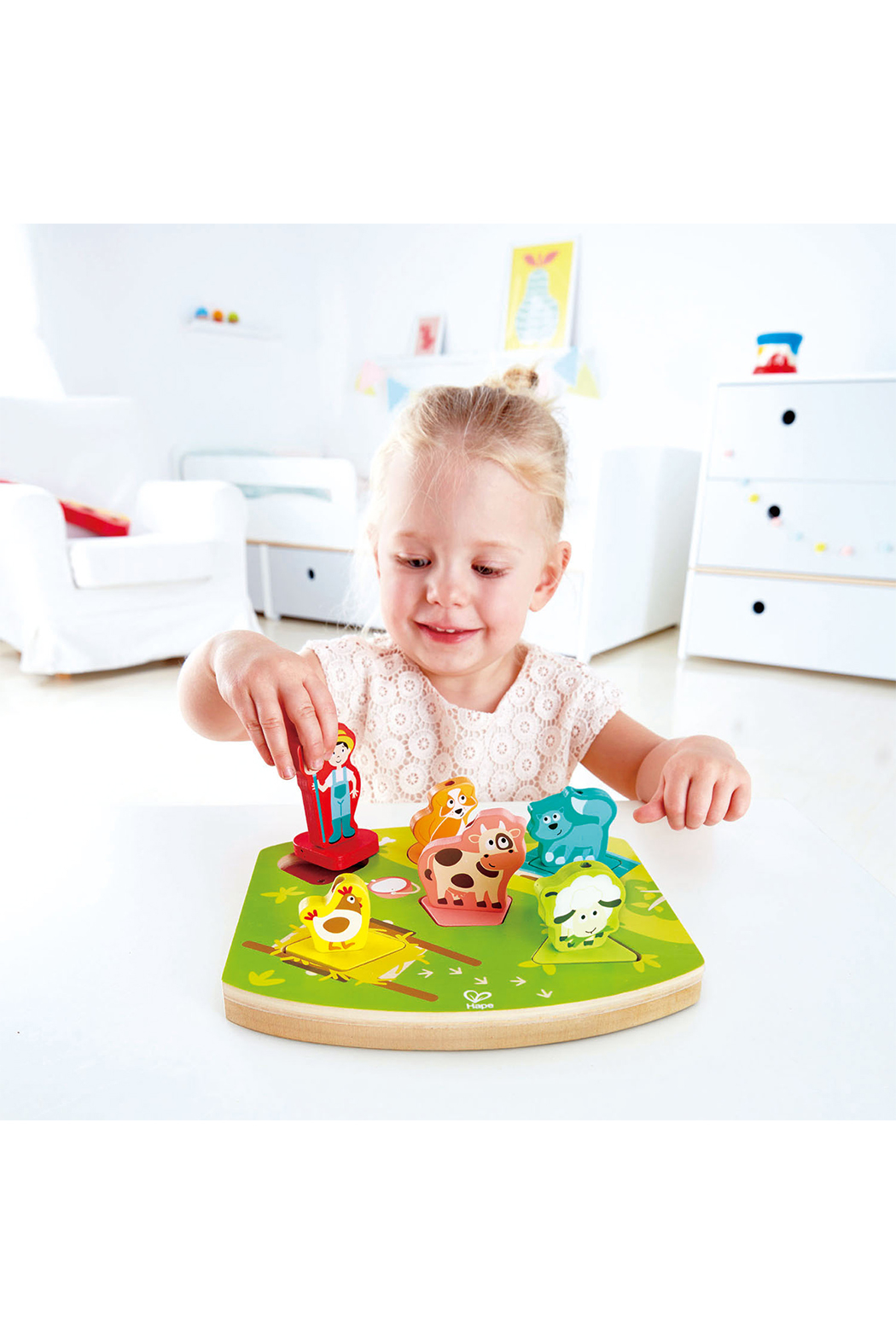 Hape Farmyard Sound Puzzle - Front Cropped Image