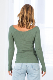 Lovestitch Farrah Ribbed Ruched  Top - Other