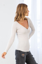 Lovestitch Farrah Ribbed Ruched  Top - Side cropped