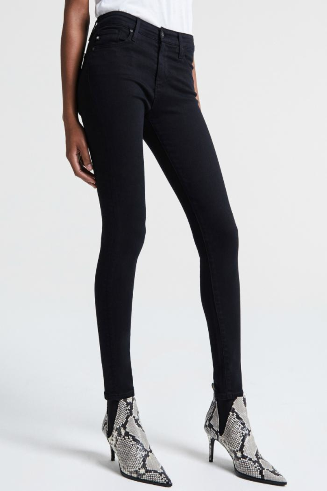 AG Adriano Goldschmied Farrah Skinny Overdye - Side Cropped Image