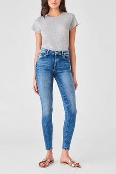 DL 1961 Farrow Ankle High Rise Skinny in Palms - Product List Image