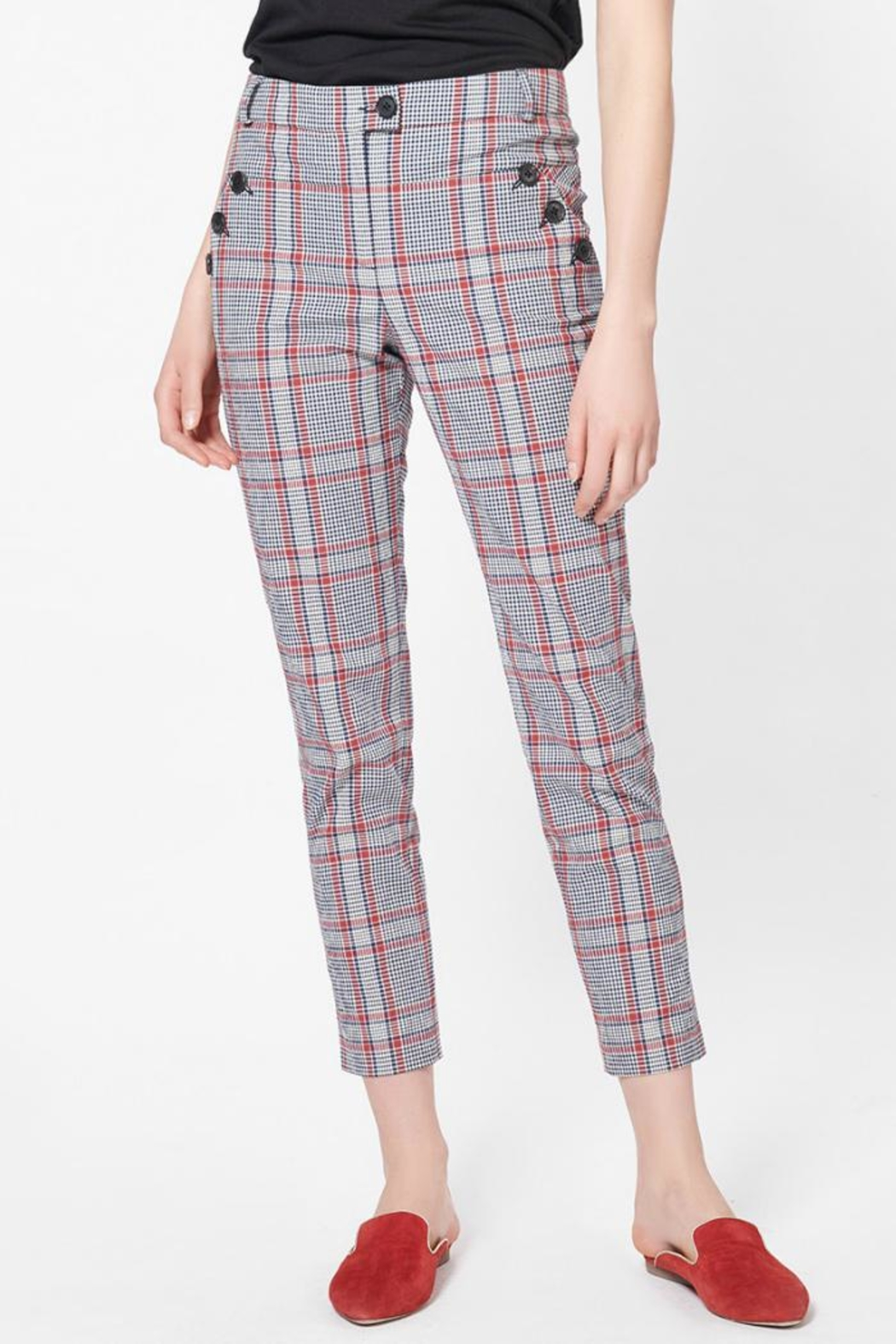 Veronica Beard Farrow Pants - Front Cropped Image